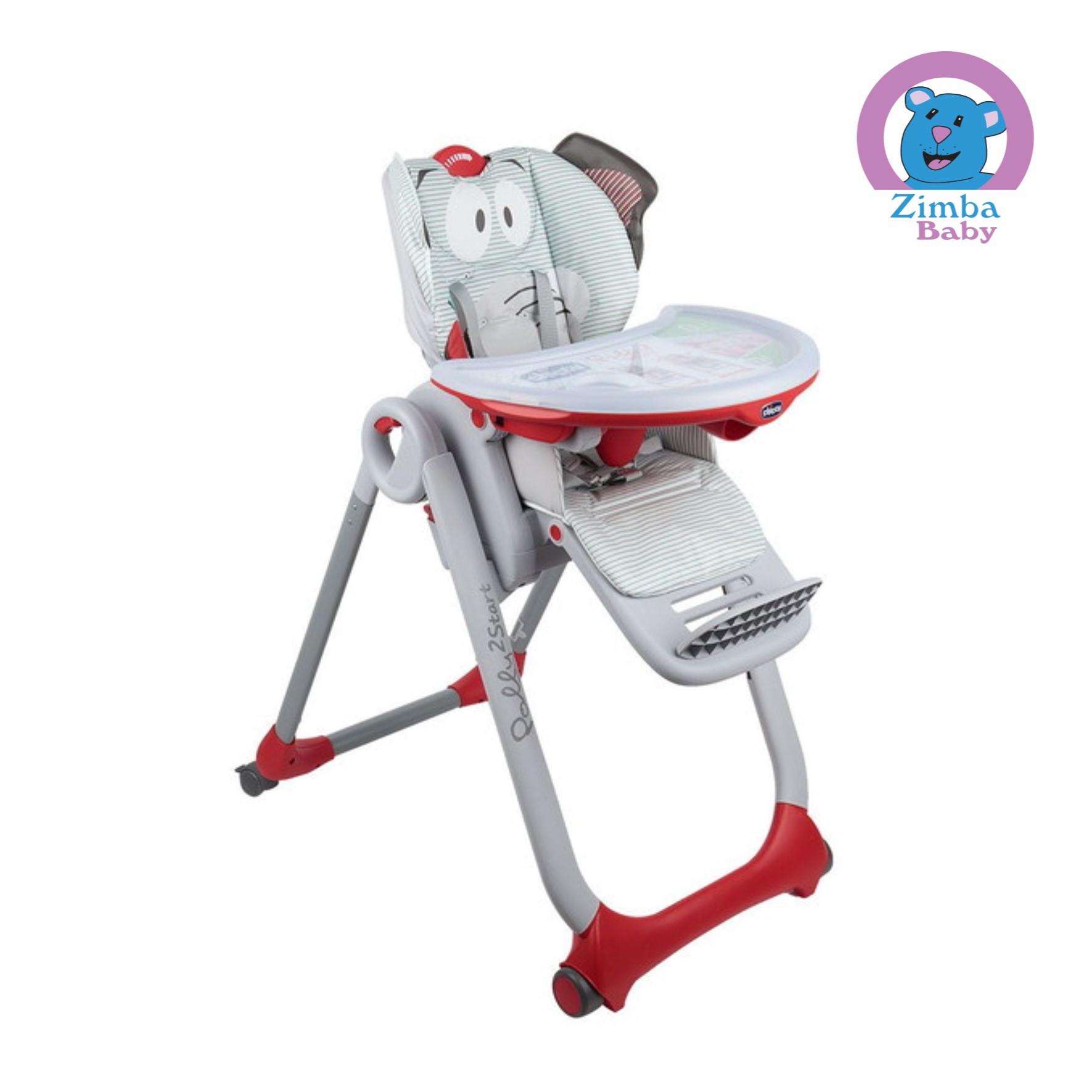 Cadeira Alimentação Polly 2 Start - Elefante- Chicco