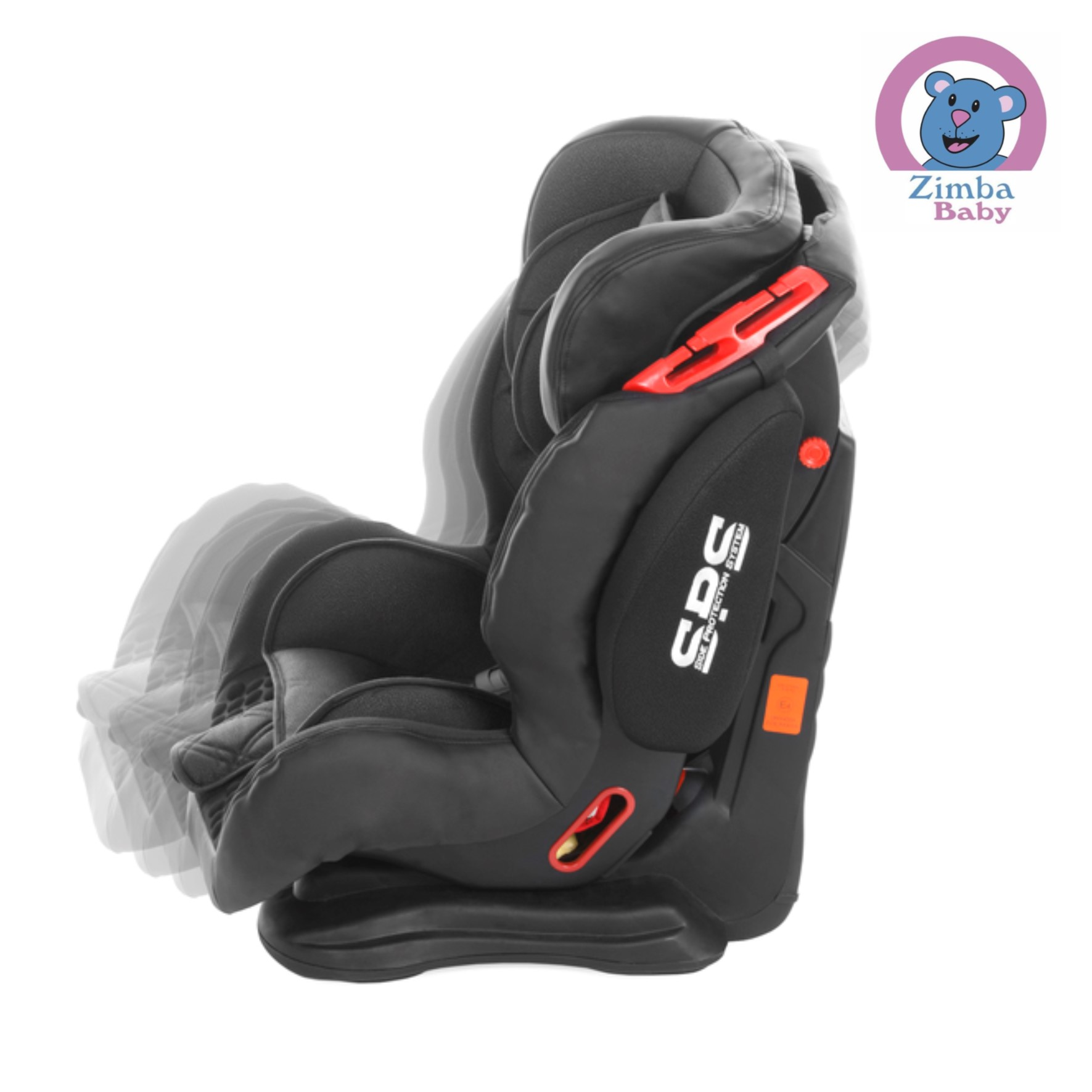 Cadeira para Auto - Cockpit - Reclinável 3 Posições - Preta Carbon - De 9 a 36 Kg - Infanti