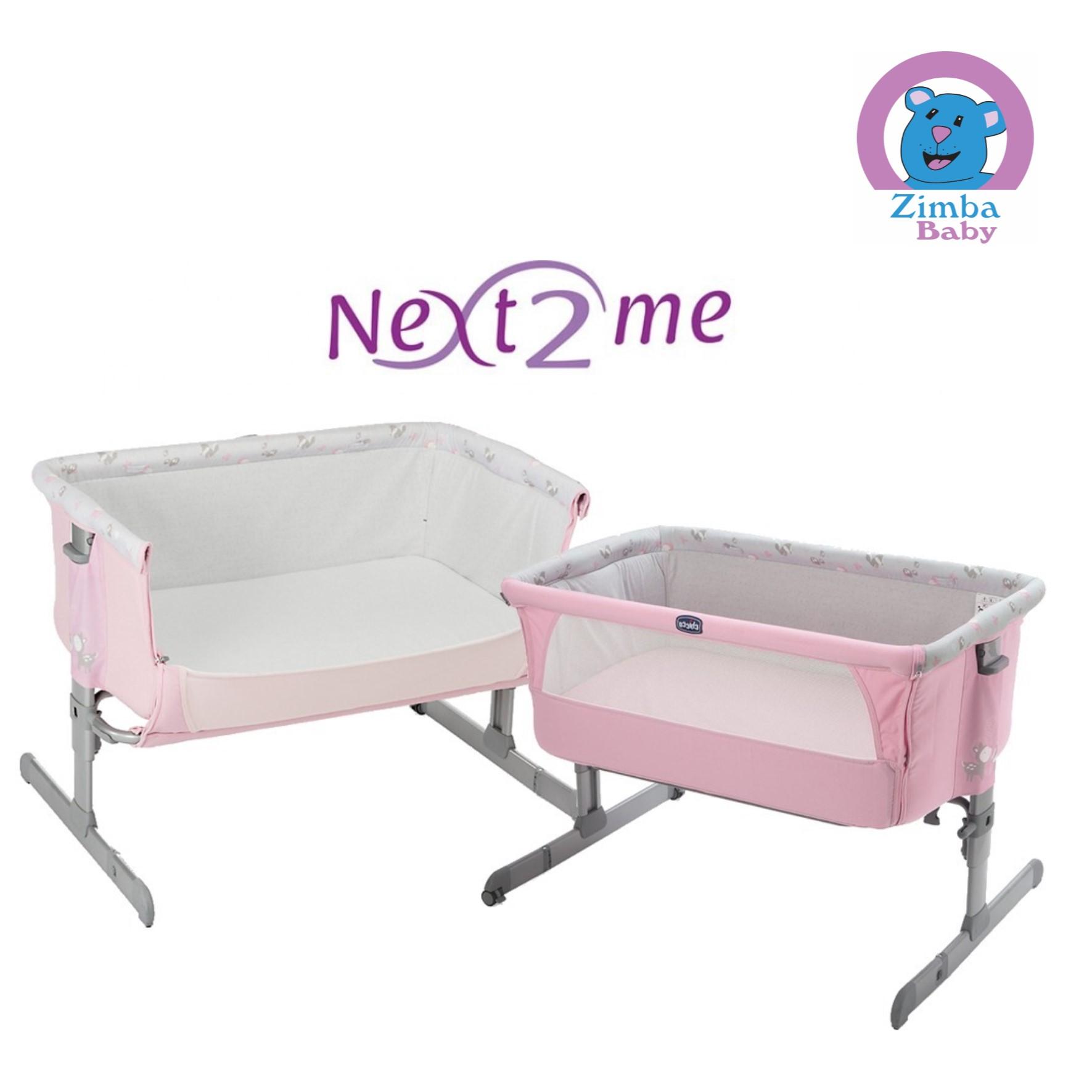 Berço Next 2 Me - Chicco- Rosa
