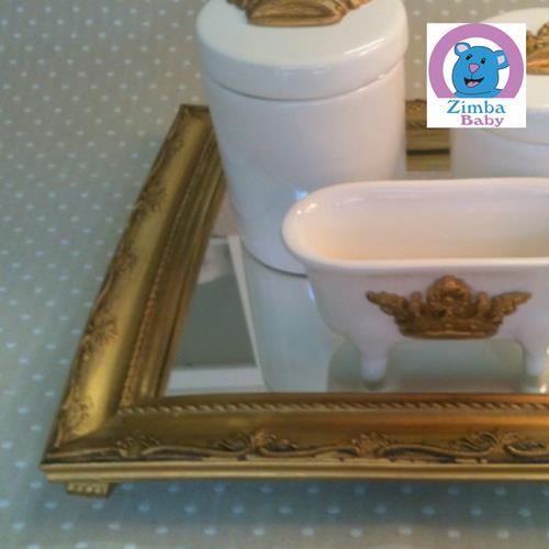Kit Higiene - Coroa com Bandeja e Espelho - 3C2586
