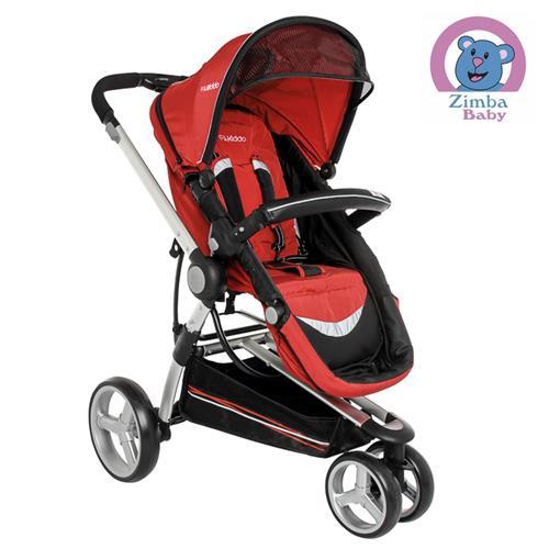 Carrinho Compass II Vermelho + Bebê Conforto Caracol - Kiddo