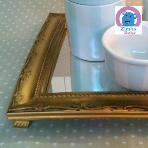 Kit Higiene - Urso com Bandeja e Espelho - 3C2516