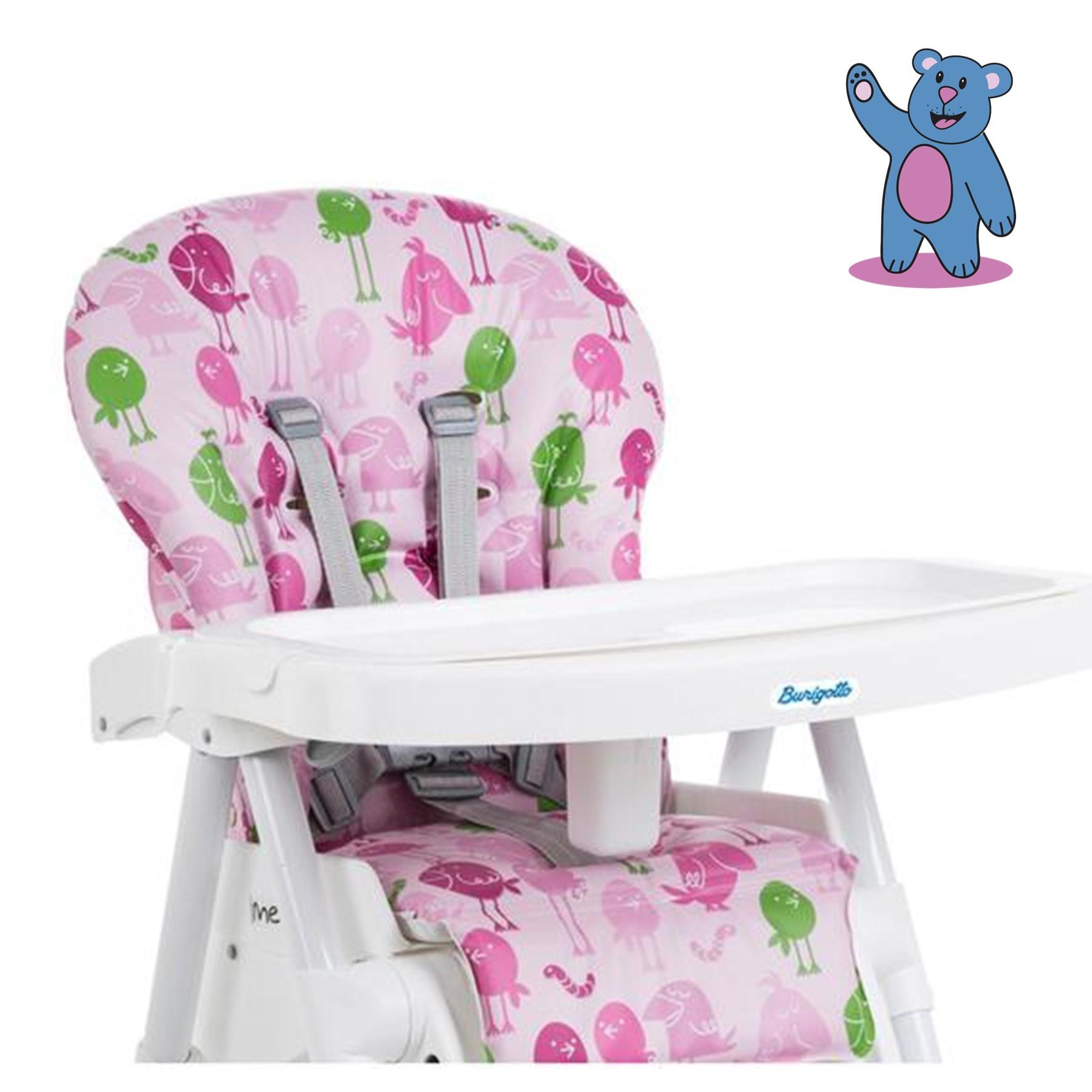 Cadeira de Alimentação Merenda - Passarinho Rosa