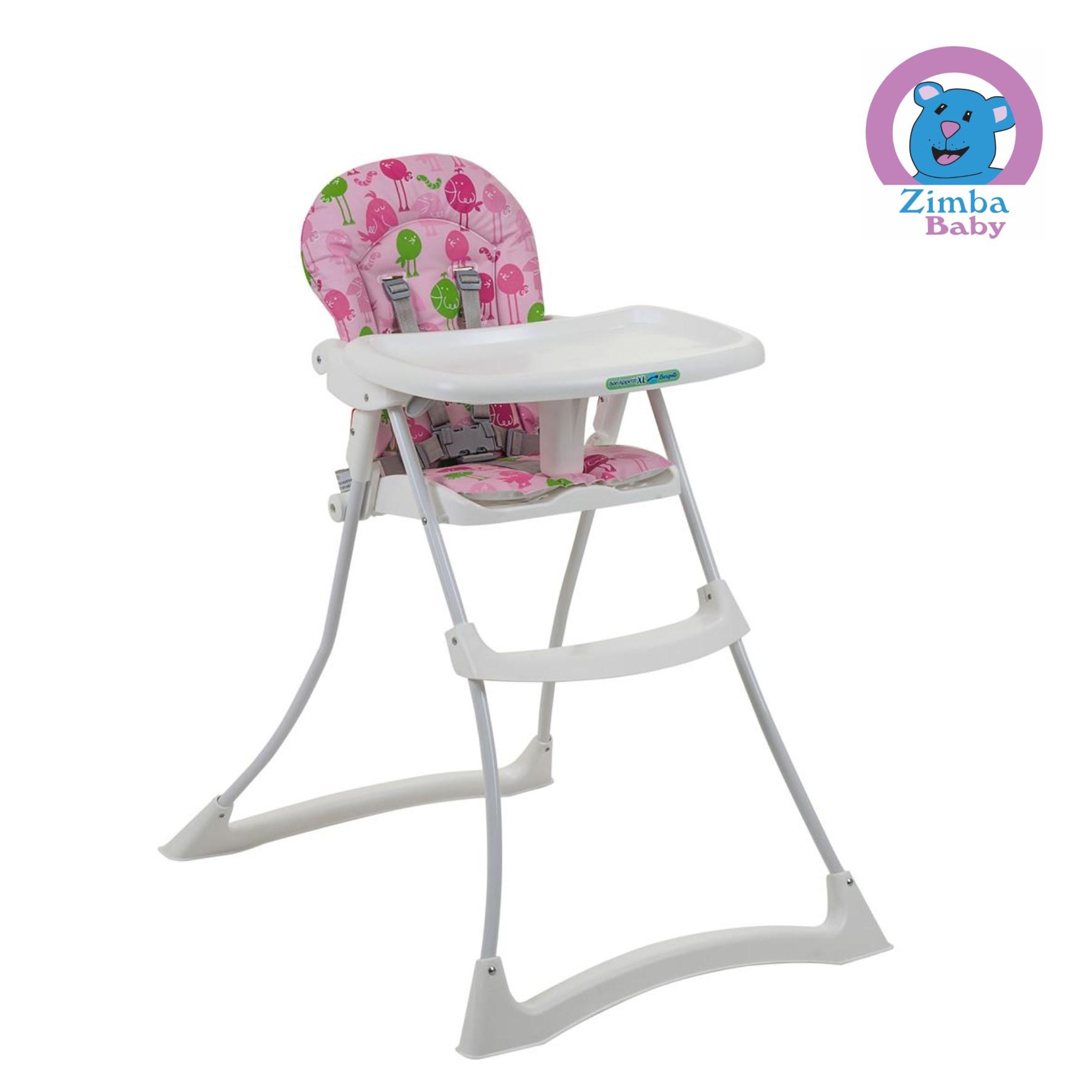Cadeira de Alimentação Bon Appetit XL - Passarinho Rosa - Burigotto